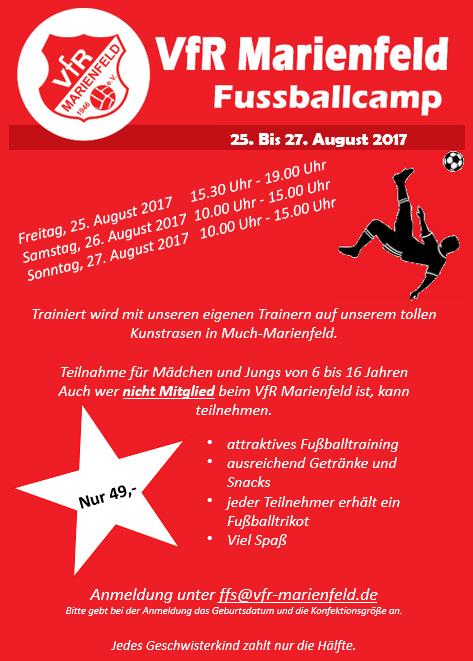 Ferien-Fussballcamp